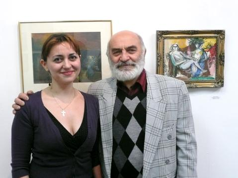 The Artist with his daughter, pianist Kariné Poghosyan