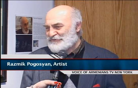 Pogosyan giving a television interview